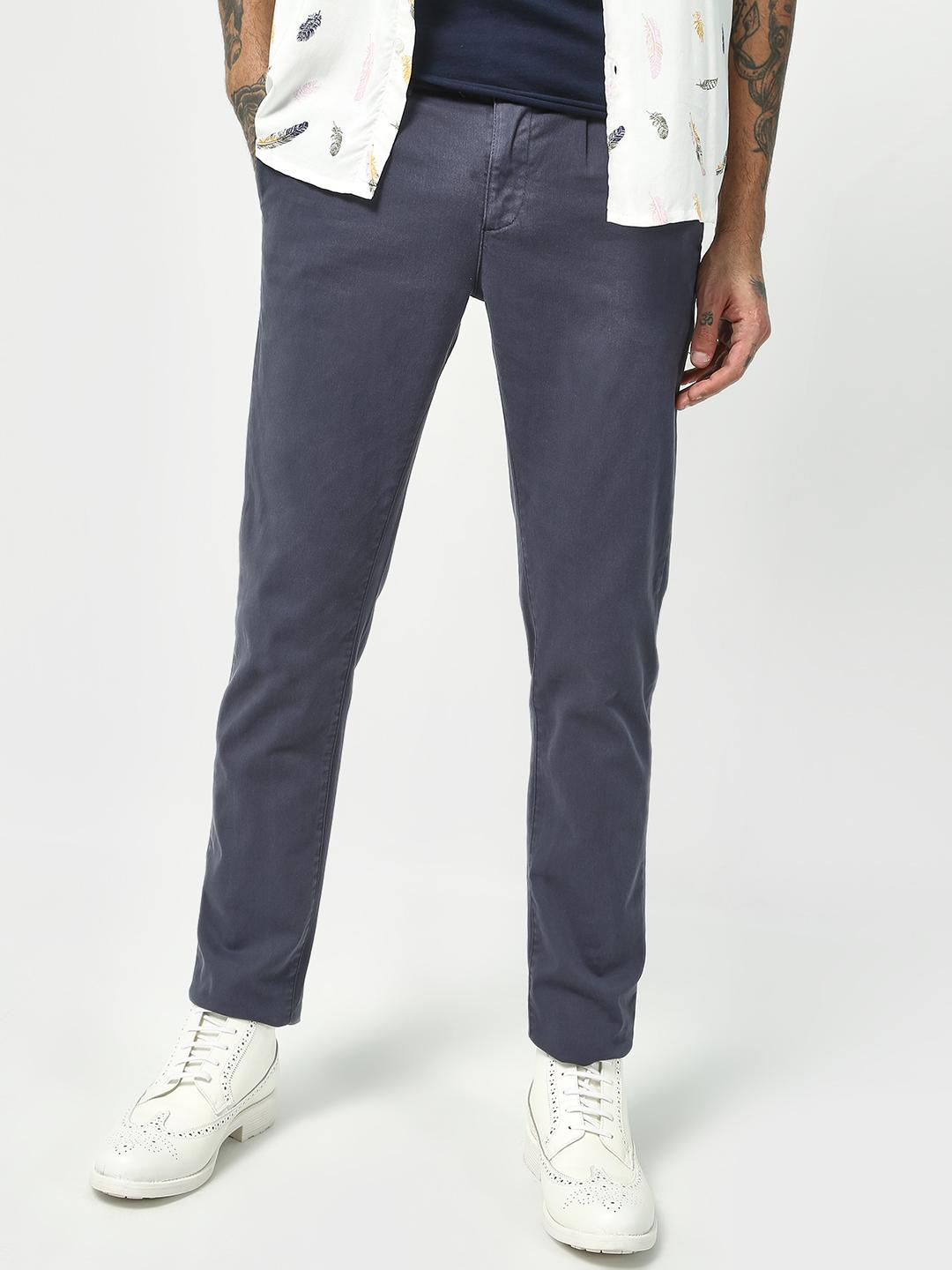 Blue Saint Blue Classic Slim Fit Trousers 1