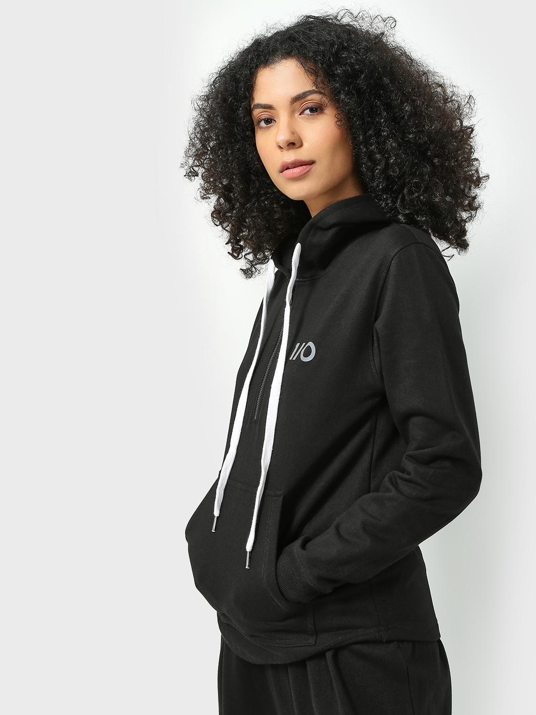 ONE/ZERO BY KOOVS Black Athleisure Reflective Logo Jacket 1