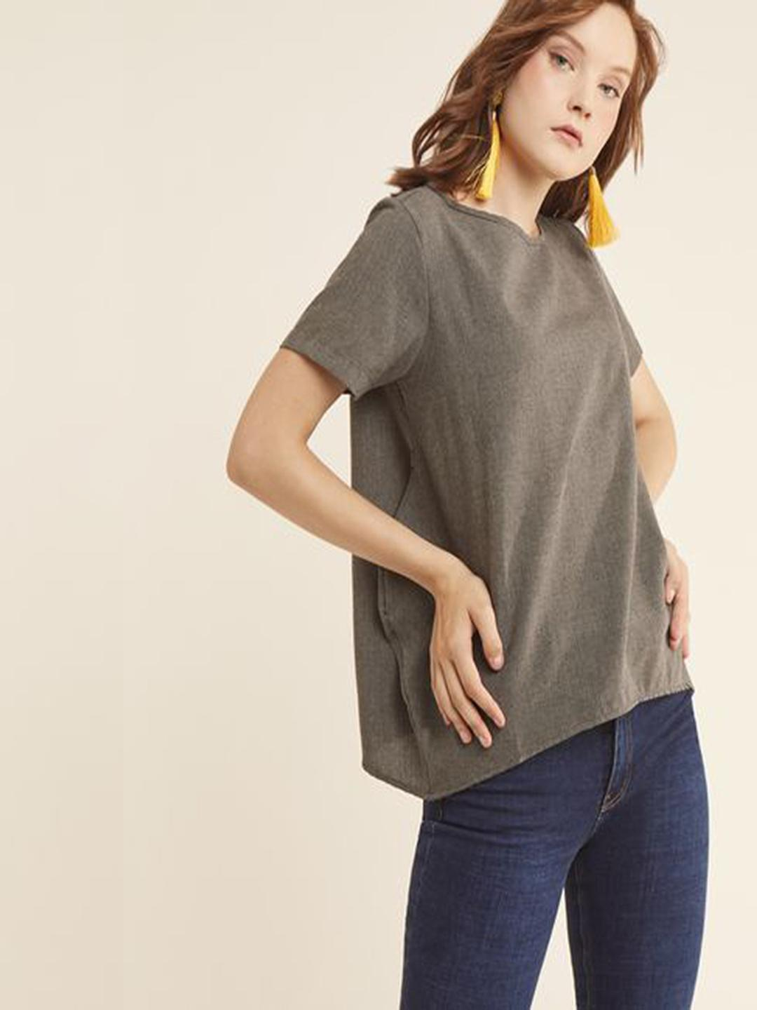 MERAKI Solid Casual Top