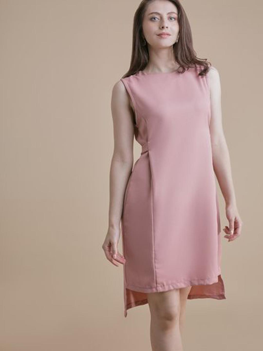 MERAKI Pink High-Low Hem Shift Dress 1