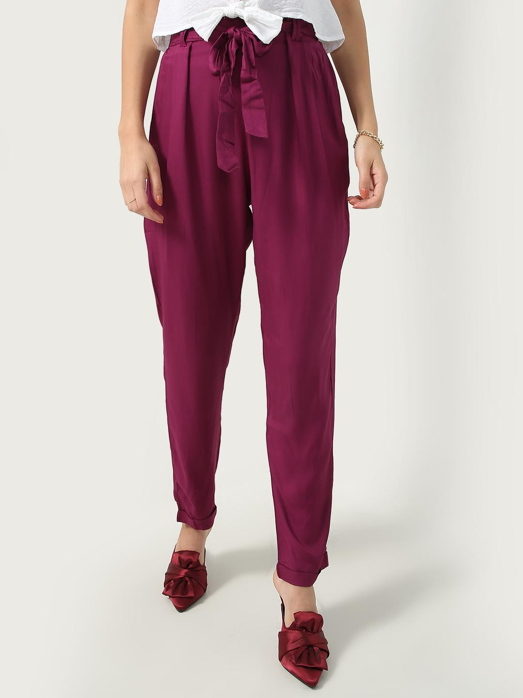 Oxolloxo Pink Tie Knot Waist Track Pant 1