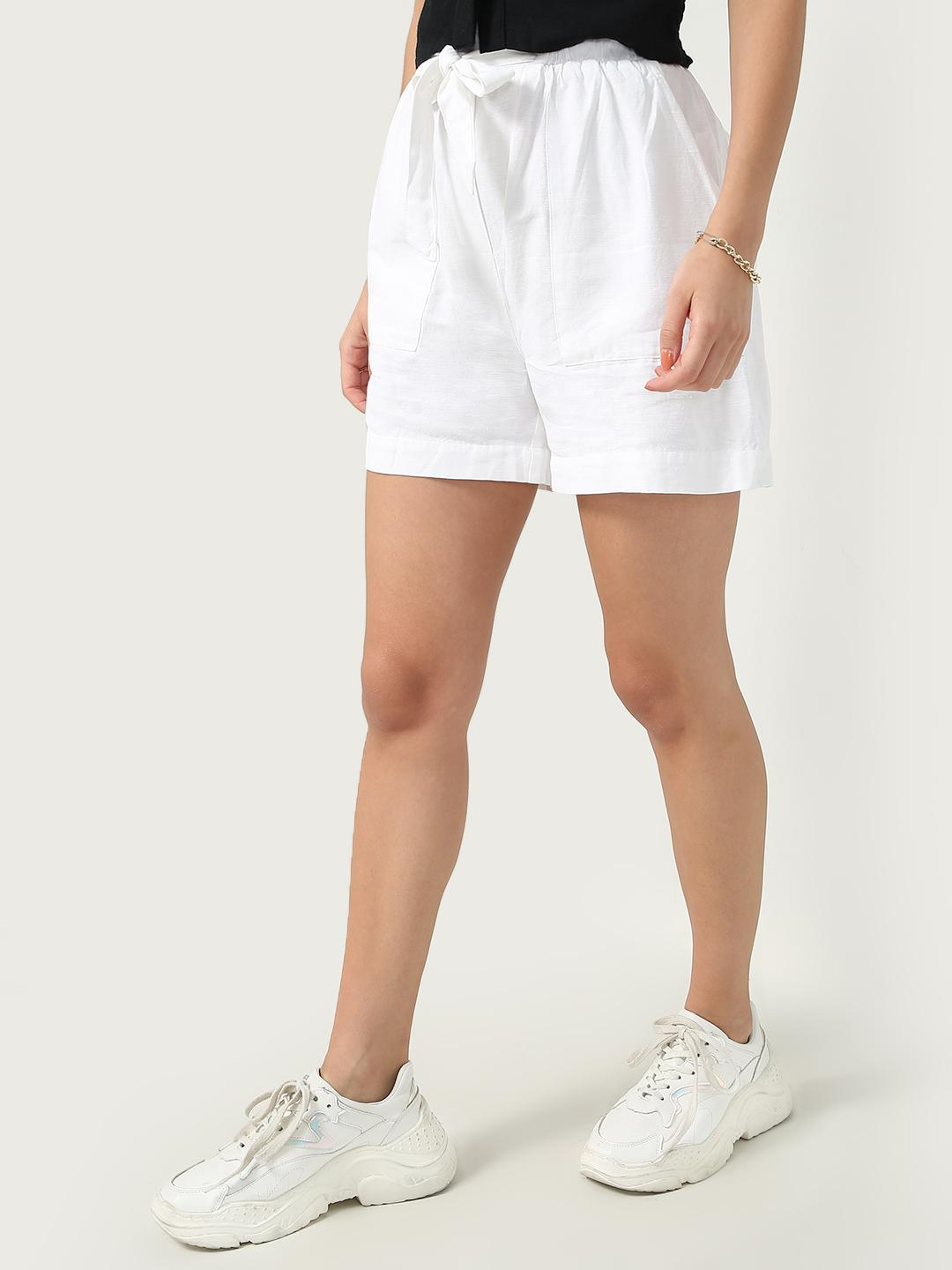 Oxolloxo White Tie Knot Day Shorts 1