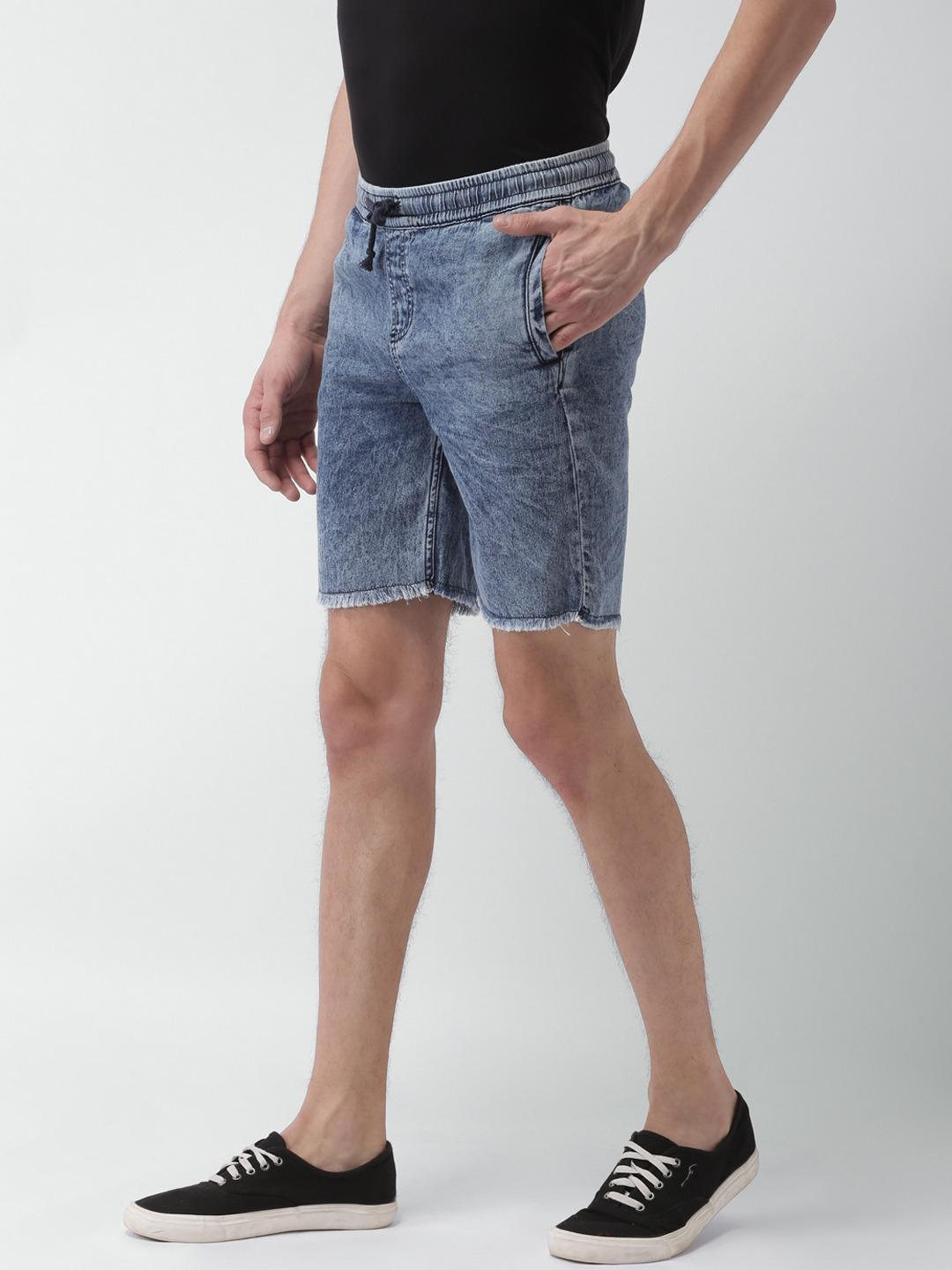 Sheltr Blue Light Wash Elasticated Slim Fit Shorts 1