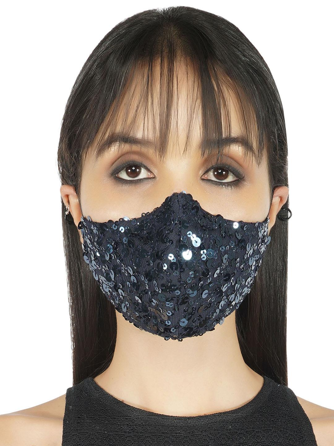 Reusable Fabric Sequin Safety Mask