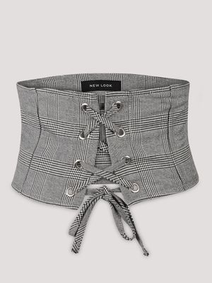 New Look Corset Belt with checks