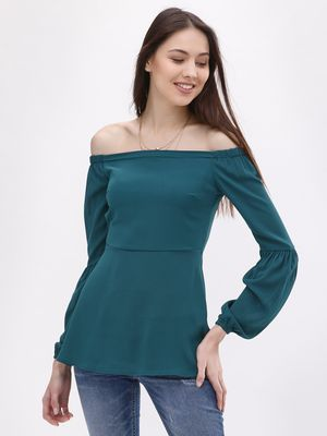 KOOVS Blouson Sleeve Off Shoulder Top