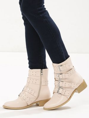 Velvet Army Multi Buckle Ankle Boots