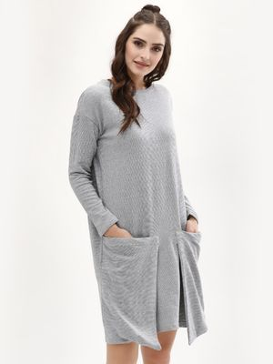 Evah London Sweat Dress With Sack Pocket