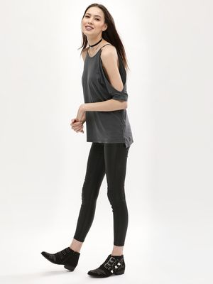 New Look Coated Cropped Jeggings