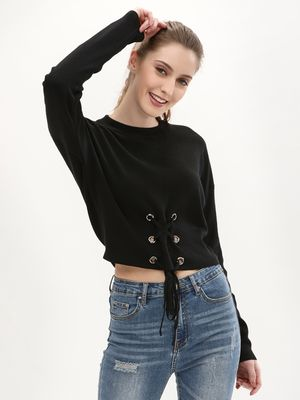 New Look Crew Neck Corset Jumper