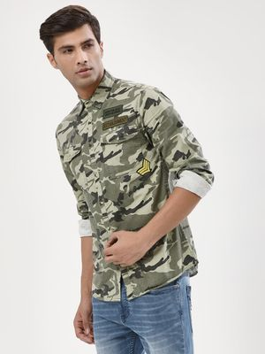 Adamo London Camo Shirt With Patches