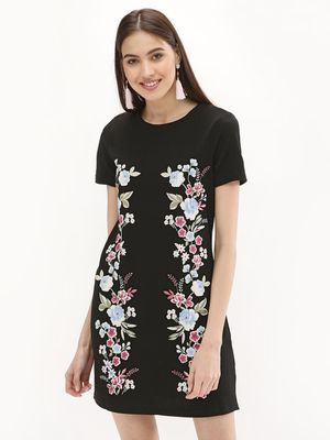 New Look Puff Print Jersey Tunic Dress