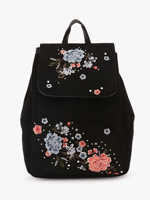 New Look Embroidered Backpack