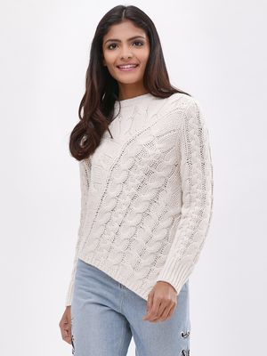 New Look Asymmetric Hem Cable Jumper