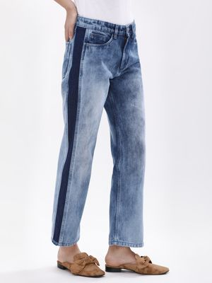 K Denim KOOVS  Margot Glitch Straight Jeans