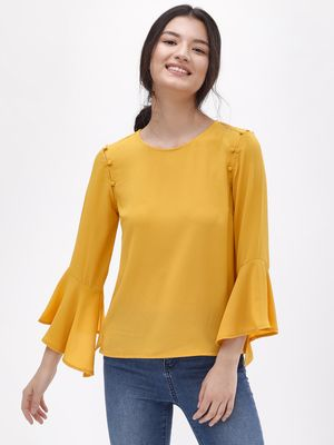 KOOVS Long Flute Sleeve Top
