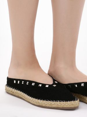 KOOVS Pointed Espadrilles With Studs