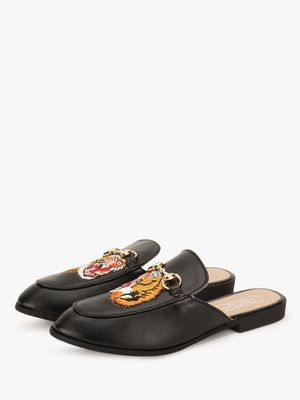 Truffle Collection Tiger Embroidered Mules