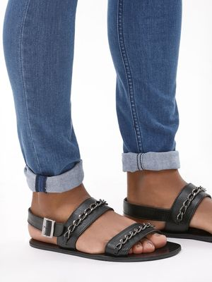 KOOVS Sandals With Chain Detail