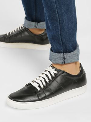 Tread Contrast Sole And Lace Sneakers