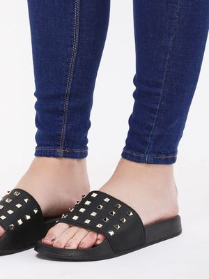 Truffle Collection Studded Pool Sliders