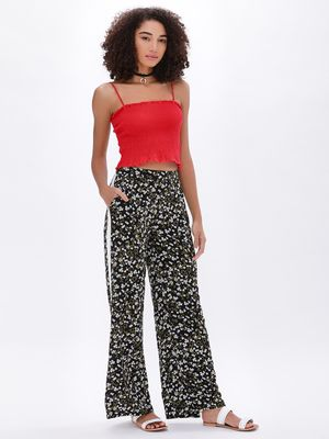 New Look Ec Hallie Side Stripe Wide Leg Trousers