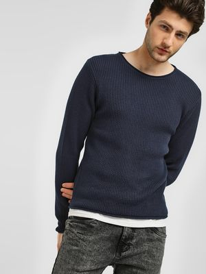 KOOVS Mock Hem Knit Jumper