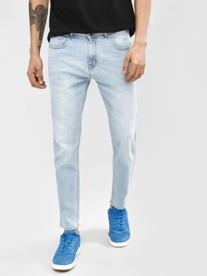 K Denim KOOVS Light Wash Slim Jeans