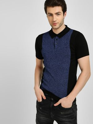 KOOVS Colour Block Short Sleeve Pullover