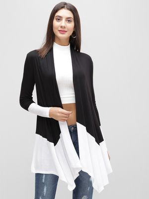 Femella Colour Block Waterfall Shrug