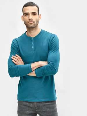 KOOVS Henley Slim Fit T-Shirt