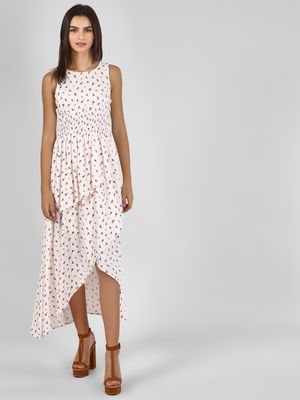 KOOVS Floral Asymmetric Maxi Dress