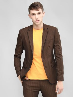 KOOVS Striped Skinny Fit Blazer