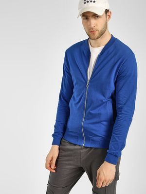 KOOVS Baseball Collar Sweat Jacket