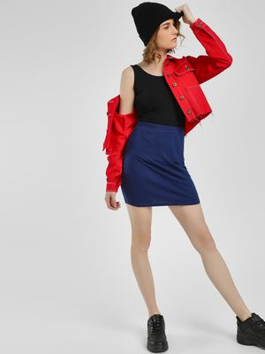 KOOVS Basic Pencil Mini Skirt