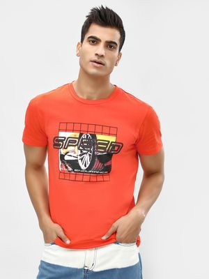 KOOVS Crew Neck Slogan T-Shirt