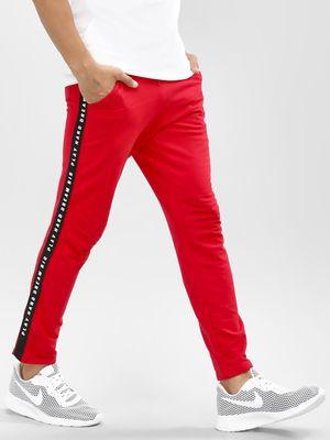 Garcon Cropped Joggers With Printed Side Tape