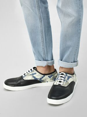 KOOVS Lace-Up Cup Sole Sneakers