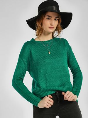 New Look High Low Ribbed Pullover
