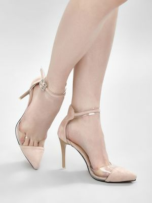 My Foot Couture Perspex Edges Heeled Pumps