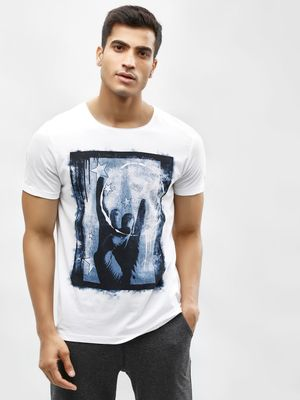 Being Human Placement Print Crew Neck T-Shirt