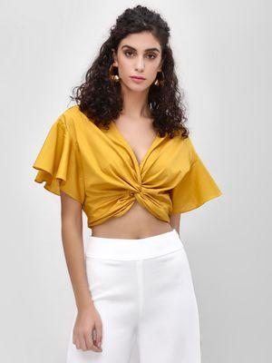 Iris Plunge V-Neck Crop Top