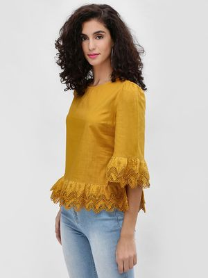 Cover Story Tiered Broderie Hem Blouse