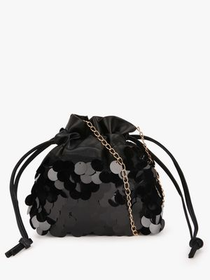 Style Fiesta Sequin Embellished Bucket Sling Bag