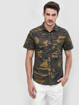 Blue Saint Camo Short Sleeve Shirt