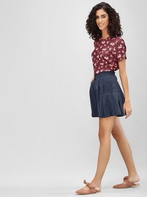 Cover Story Pleated Twin Pocket Shorts
