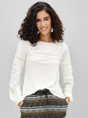 Cover Story Square Neck Blouse With Volume Sleeve