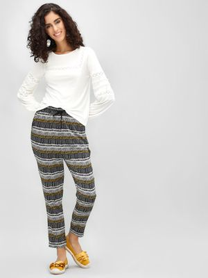 Cover Story Printed Cropped Trousers