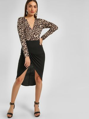 Ax Paris Animal Print Midi Dress