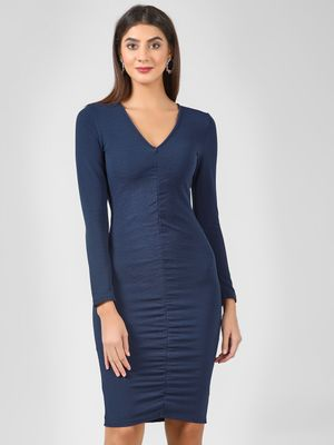 Ax Paris Ruched Front Bodycon Dress
